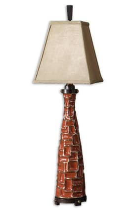 Uttermost Tahlia Tahlia 29486 Table Lamp in Red Finish Lighting