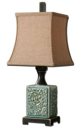 Uttermost Petrella Petrella 29726 Table Lamp in Crackled Light Blue Finish Lighting
