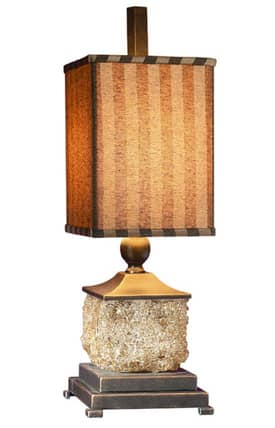 Uttermost Donatella Lamp Donatella 29917-1 Table Lamp in Amber & Burnished Bronze Finish Lighting