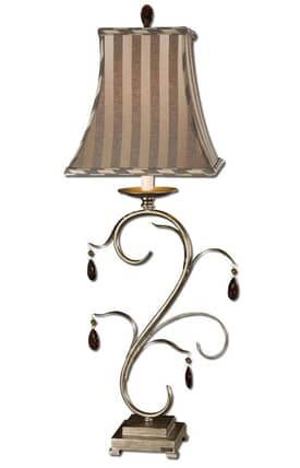 Uttermost Damosel Lamp Damosel 29918-1 Table Lamp in Silver Champagne Finish Lighting