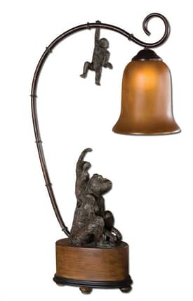 Uttermost Monkeyshine Lamp Monkeyshine 29919-1 Table Lamp in Patinaed Bronze Finish Lighting