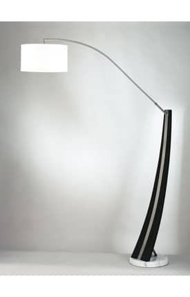 Nova Planar Planar 4553 Arc Floor Lamp in Dark Brown & Brushed Nickel Finish Lighting