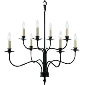 Royce Lighting Coventry Coventry RC2161/8BK 8 Light Chandelier in Black Finish Lighting