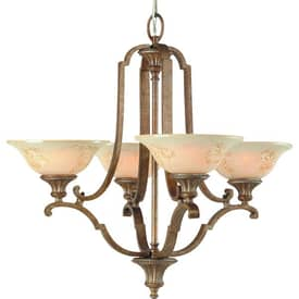 Royce Lighting Belcaro Belcaro RC2250/4-82 4 Light Chandelier in Gilded Imperial Silver Finish Lighting