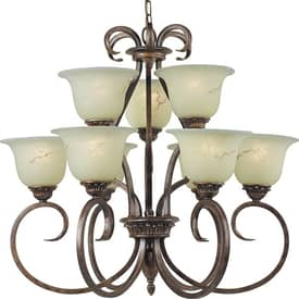 Royce Lighting Birmingham Birmingham RC5300/6+3-11 9 Light Chandelier in British Bronze Finish Lighting