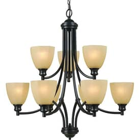 Royce Lighting Monroe Monroe RC5305/6+3-101 9 Light Chandelier in Architectural Bronze Finish Lighting