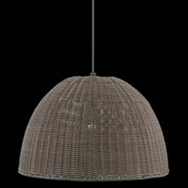 Royce Lighting Rattan Rattan RLPE2000-50 Outdoor Pendant in Dark Tan Finish Lighting