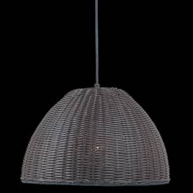 Royce Lighting Rattan Rattan RLPE5025/1-121 Outdoor Pendant in Dark Weathered Rattan Finish Lighting