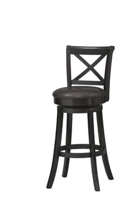 Linon Home Decor Stools X Back Wood Swivel Bar Stool Furniture