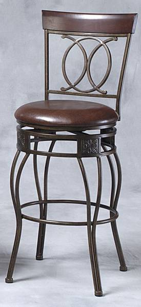 Linon Home Decor Stools O & X Back Counter Stool Furniture