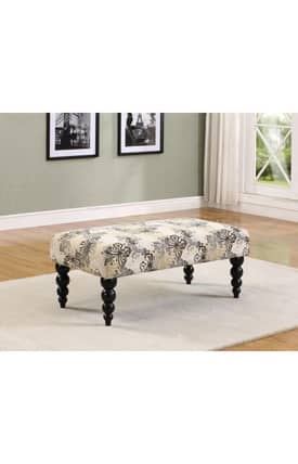 Linon Home Decor Benches Claire Traditional Upholstered Bench Furniture