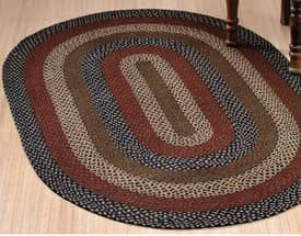 IHF Jute Checker Board Braided Rug