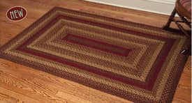 IHF Jute Cinnamon Braided Rug