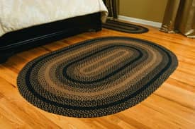 IHF Jute Ebony Braided Rug
