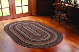 IHF Jute Blackberry Braided Rug