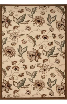World Rug Gallery Elite Petals And Leaves Rug
