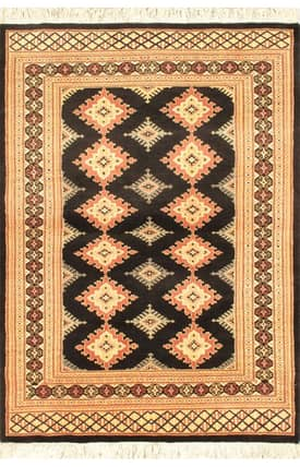 E Carpet Gallery Persian Hand Knotted Bokhara 690370 Rug