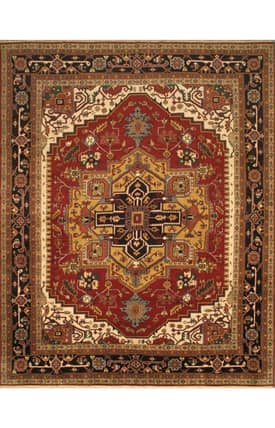 E Carpet Gallery Persian Hand Knotted Heriz 691306 Rug