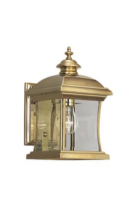 Designers Fountain Buckingham Buckingham 1671-PVD-PB Wall Lantern in Polished Brass Finish Lighting