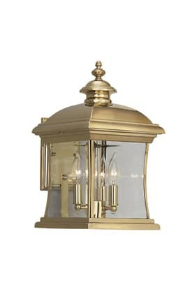 Designers Fountain Buckingham Buckingham 1691-PVD-PB Wall Lantern in Polished Brass Finish Lighting