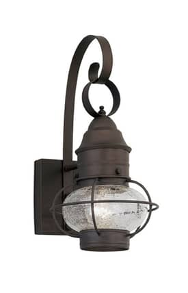 Designers Fountain Nantucket Nantucket 1751-RT Onion Wall Lantern in Rustique Finish Lighting