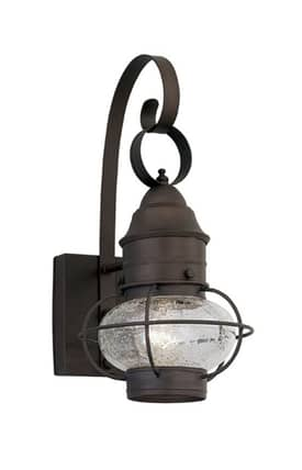 Designers Fountain Nantucket Nantucket 1761-RT Onion Wall Lantern in Rustique Finish Lighting