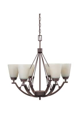 Designers Fountain Harlow Harlow 81686-TU 6 Light chandelier in Tuscana Finish Lighting