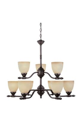 Designers Fountain Apollo Apollo 94089-ORB 9 Light Chandelier in Oil Rubbed Bronze Finish Lighting