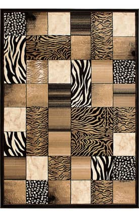 Segma Inc Alberta Animal Print Blocks Rug