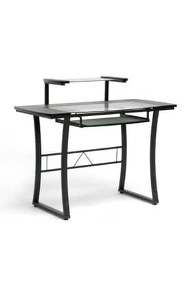 Wholesale Interiors Desks Paulson Steel Modern Computer Desk with Glass Desktop Furniture