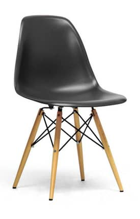 Wholesale Interiors Chairs Azzo Plastic Mid-Century Modern Shell Chair (Sets of 2) Furniture