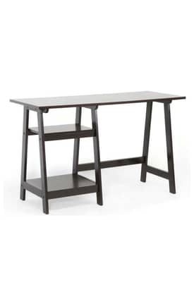 Wholesale Interiors Desks Mott Wood Modern Desk with Sawhorse Legs Furniture