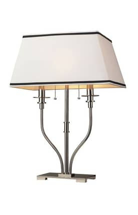 Dimond Lighting Tribeca Tribeca Desk Lamp in Polished Nickel Finish Lighting