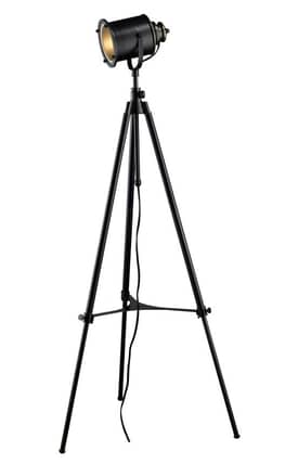 Dimond Lighting Ethan Ethan Adjustable Tripod Floor Lamp in Restoration Black Finish Lighting
