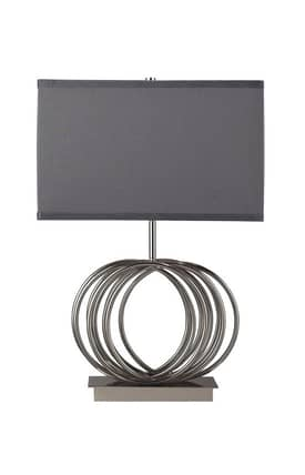 Dimond Lighting Ekersall Ekersall D2057 Table Lamp In Chrome Finish Lighting