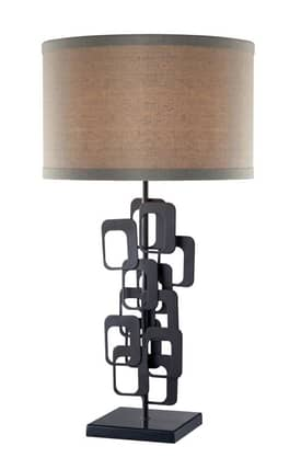 Dimond Lighting Griffin Griffin D2135 Table Lamp In Matte Black Finish Lighting