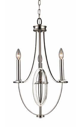 Elk Lighting Dione Dione 10120/3 3 Light Chandelier in Polished Nickel Finish Lighting
