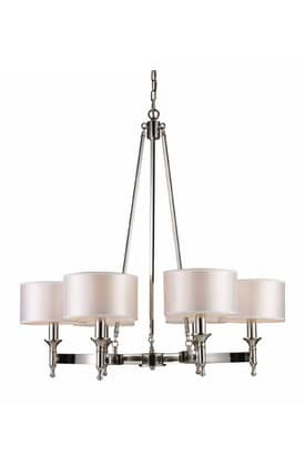 Elk Lighting Pembroke Pembroke 10123/6 6 Light Chandelier in Polished Nickel Finish Lighting
