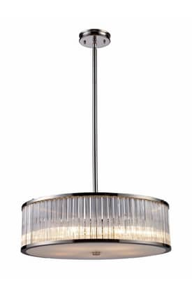Elk Lighting Braxton Braxton 10129/5 Pendant in Polished Nickel Finish Lighting