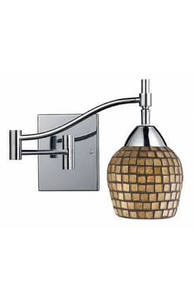 Elk Lighting Celina Celina 10151/1PC-GLD Wall Swing Arm Lamp in Polished Chrome Finish Lighting
