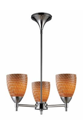 Elk Lighting Celina Celina 10154/3PC-C 3 Light Chandelier in Polished Chrome Finish Lighting