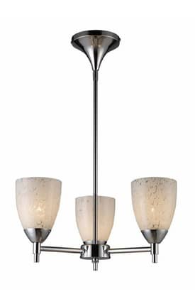 Elk Lighting Celina Celina 10154/3PC-SW 3 Light Chandelier in Polished Chrome Finish Lighting