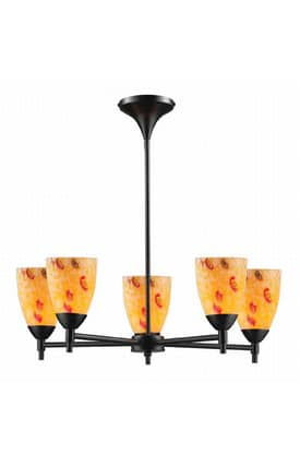 Elk Lighting Celina Celina 10155/5DR-YW 5 Light Chandelier in Dark Rust Finish Lighting