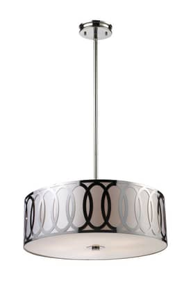 Elk Lighting Anastasia Anastasia 10174/5 Pendant in Polished Nickel Finish Lighting