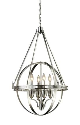Elk Lighting Hemispheres Hemispheres 10192/4 4 Light Chandelier in Polished Nickel Finish Lighting