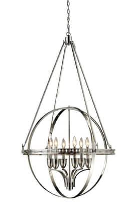 Elk Lighting Hemispheres Hemispheres 10193/6 6 Light Chandelier in Polished Nickel Finish Lighting