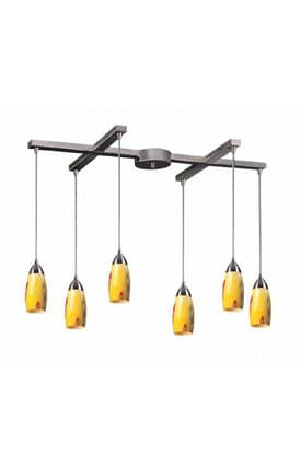 Elk Lighting Milan Milan 110-6YW Pendant in Satin Nickel Finish Lighting