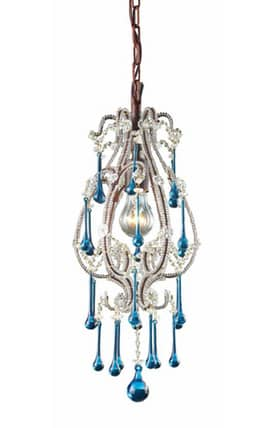 Elk Lighting Opulence Opulence 12013/1AQ Pendant in Rust Finish Lighting