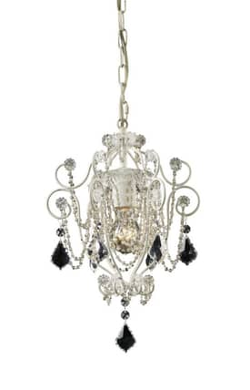 Elk Lighting Elise Elise 12017/1 1 Light Mini Chandelier in Antique White Finish Lighting