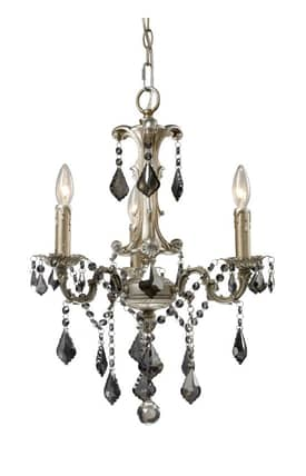Elk Lighting Marseille Marseille 15045/3 3 Light Chandelier in Weathered Silver Finish Lighting